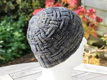 Hat Beanie ANSGAR, knitting pattern, one-size adults