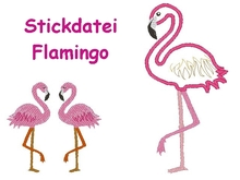 Stickdatei Flamingo
