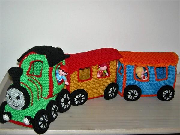 Sparset häkeln: Lokomotive + Waggons häkeln