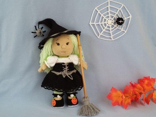 Hexe häkeln // Puppe // Halloween-Deko häkeln