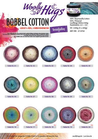 "Tuch ""Opernball"" mit 1 Woolly Hugs BOBBEL-COTTON stricken"