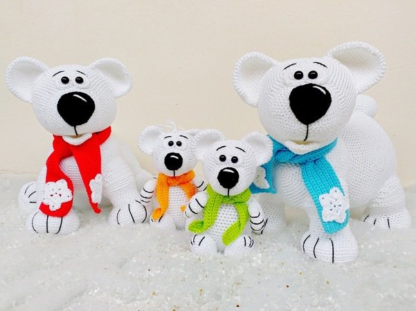 Crochet Pattern: Amigurumi Polar Bear | 450x601