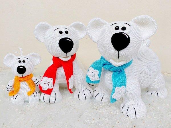 Eisbären Häkeln Familie Eisbär Häkeln