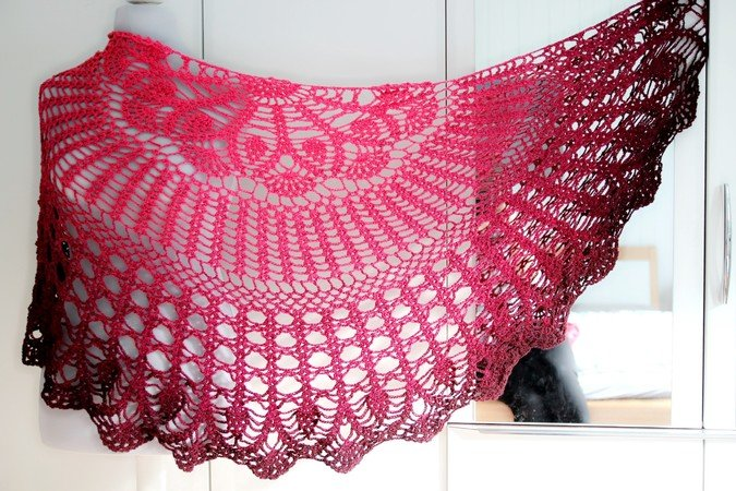 Crochet Pattern Triangular Shawl Julia
