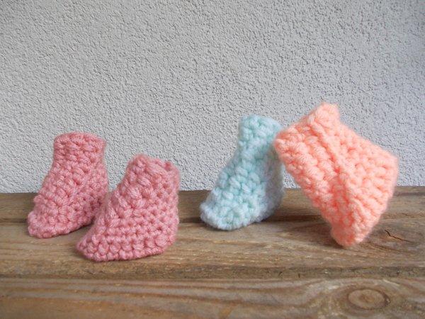 Häkelanleitung Baby-Boots, Baby-Schuhe, Stiefelchen für Säuglinge ...