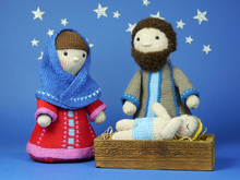 Holy Family / Nativity Set / knitting pattern