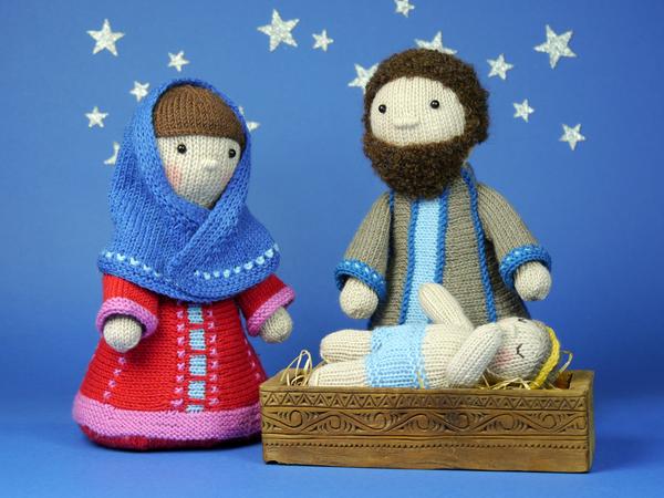 Knitting Pattern Nativity : Holy Family / Nativity Set / knitting pattern