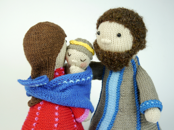 Holy Family Nativity Set Knitting Pattern
