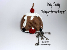 "Crochet instruction E-Book key cozy ""Gingerbread man"" #0016 selfmade christmas gift english"