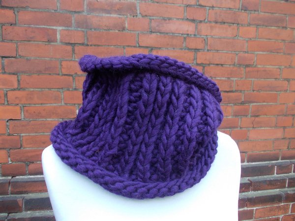 knit pattern circle scarf, loop, snood, shawl, quick and easy to knit, unisex