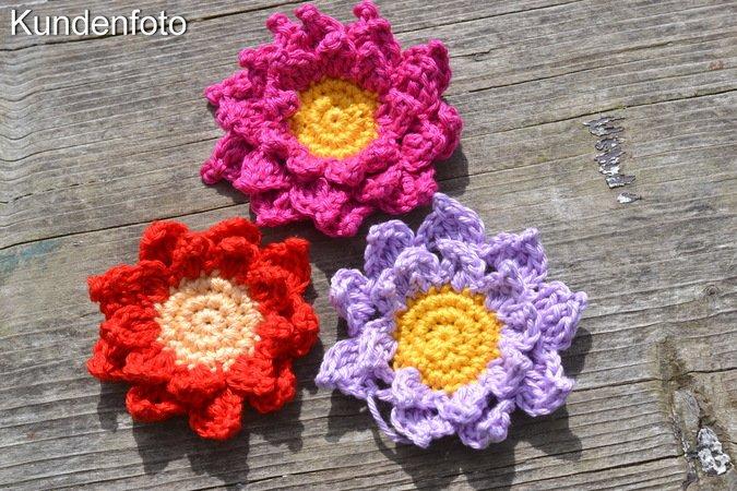 Sonnenblume Häkeln 3 Varianten Deko