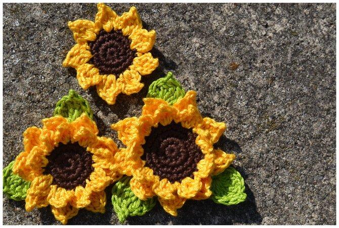 Sonnenblume häkeln /// 3 Varianten /// Deko