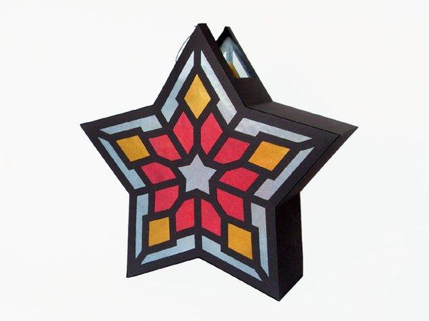 st martins laterne 5 zackiger stern bastelvorlagen mit anleitung. Black Bedroom Furniture Sets. Home Design Ideas