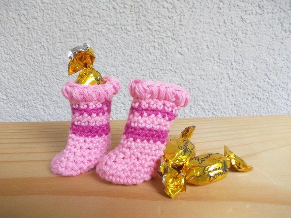 Häkelanleitung Mini-Schuhe, Stiefel, Boots, 7 verschiedene ...