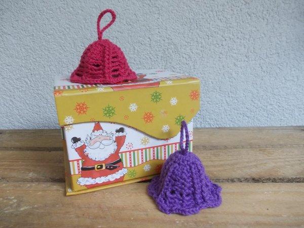Häkelanleitung Weihnachts-Glocken, 2 Mustervarianten, einfach und ...
