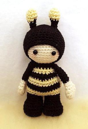 Häkelanleitung Biene Puppe