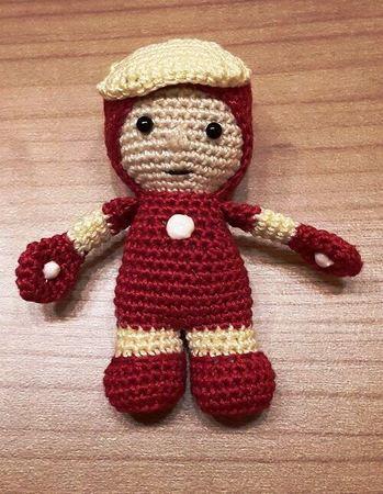 Häkelanleitung Ironman Puppe