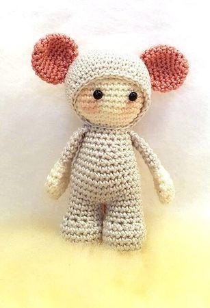 Häkelanleitung Maus Puppe