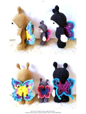 Häkelanleitung Schmetterling Puppe