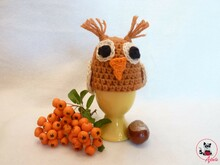 Egg warmer owl Ewald - crochet instruction