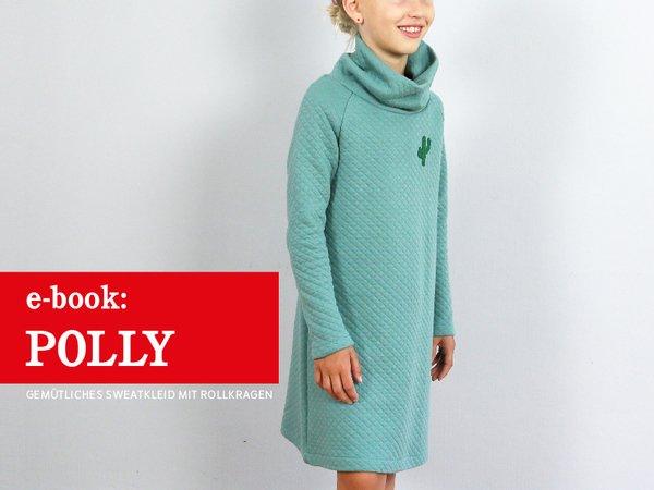 Polly - gemütliches Raglankleid mit Rollkragen