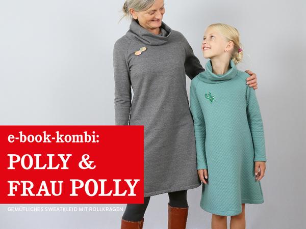 Polly & FrauPolly - gemütliches Raglankleid mit Rollkragen