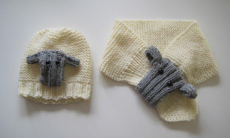Strickanleitung Schafschal Und Schaf Mütze Für Babys Und Kinder Bis