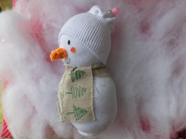 Schneemann aus ner Socke - Basteln