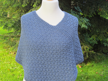 Strickanleitung Poncho Blue Jeans