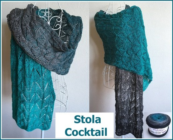 "Stola ""Cocktail "" stricken mit 1 Woolly Hugs - BOBBEL"