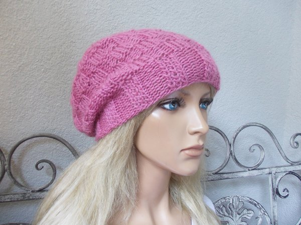 "knit pattern cap ""change"", lovely hat, quick and easy to knit"