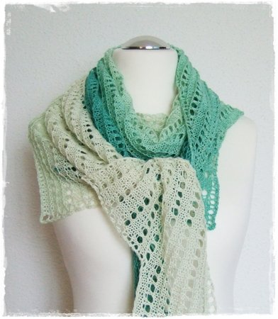 Pronto - asymmetric shawl for beginners