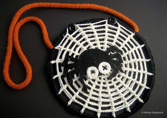 Kindertasche Spinnennetz Halloween Spinne
