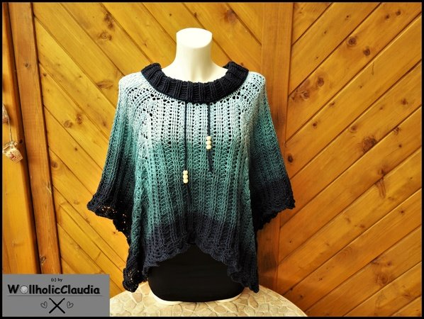 Crochet pattern Poncho 'Midnight Dream'