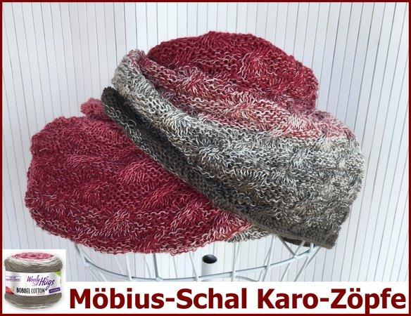 Möbius Schal Stricken Bobbel Verstricken