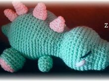 Sleeping Baby Dinosaur Pattern