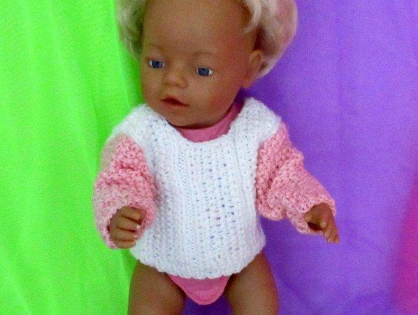Strickanleitung Pullover für Babypuppe
