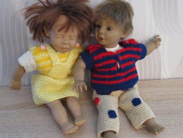 Häkelanleitung Puppenkleidung für Puppe 38 cm groß