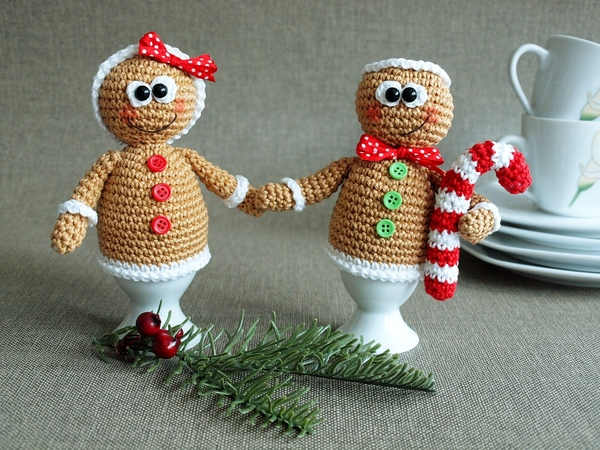 Weihnachtsdeko häkeln // Lebkuchen-Eierwärmer