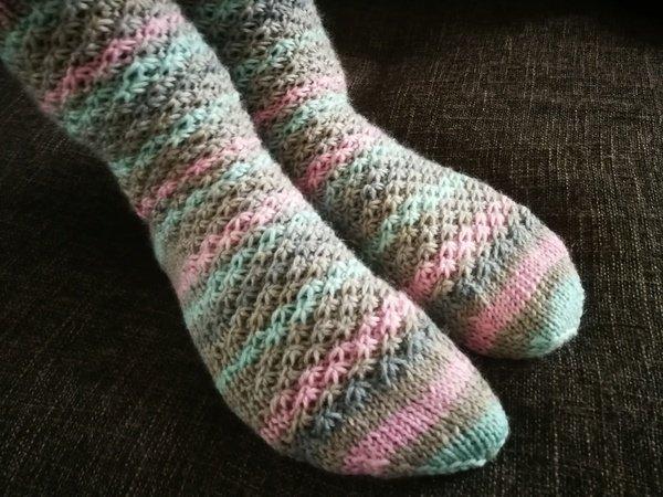 Socken stricken///warm++kuschelig///Gr. 22-47