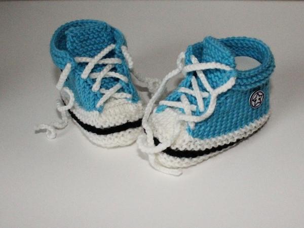 Strickanleitung Baby Turnschuhe Booties In 2 Größen