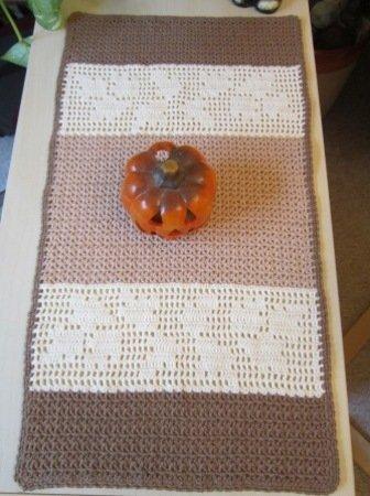 Häkelanleitung Für Tischläufer Herbst