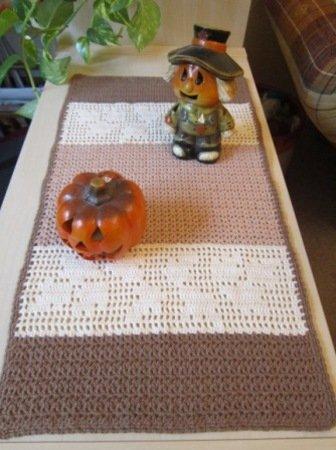 Häkelanleitung für Tischläufer # Herbst #