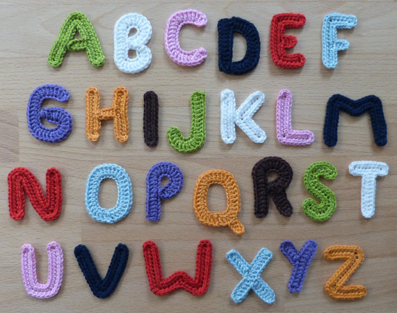 Crochet Pattern For Alphabetic Characters Letters From A To Z
