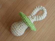 Crochet pattern for a rattle pacifier