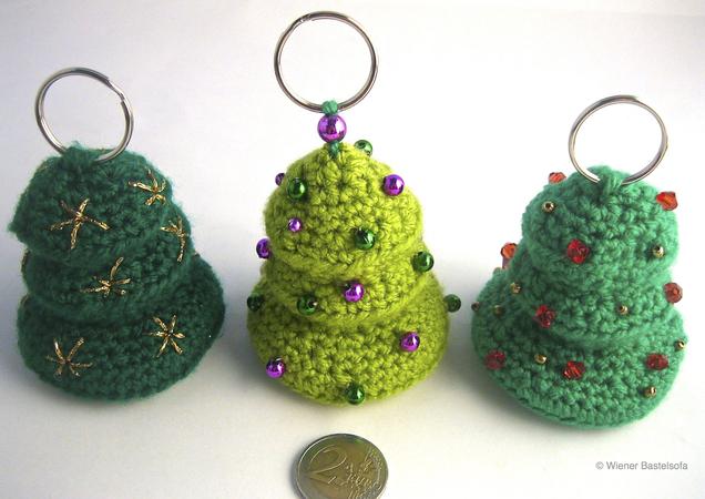 Gutschein Weihnachtsbaum.Täschchen Bäumchen Für Einkaufschip Oder Gutschein Schlüsselanhänger Taschenbaumler Weihnachtsbaum