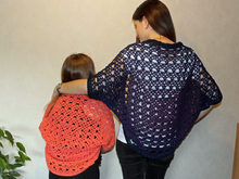 "Crochet pattern: Shrug ""Bridges"" - for all sizes"