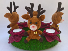 Crochet Pattern Christmas Wreath Reindeer