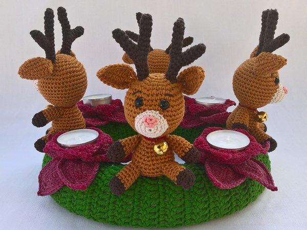 Reindeer crochet tutorial - YouTube | 450x600