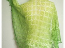 Young Birch - triangular lace shawl